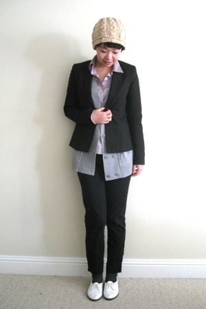 Theory blazer - BCBG top - martinosa shirt