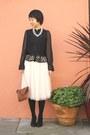 Black-wedge-coach-shoes-black-victorian-style-h-m-shirt-nude-maxi-skirt-h-m-