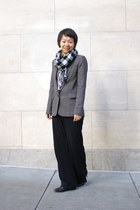 gray BCBG blazer - black Anne Klein pants