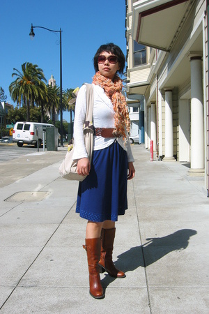 Merveille H top - RicRac dress - Fossil belt - shoes