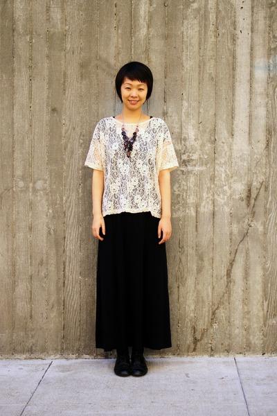 White Top Forever 21 Tops Black Maxi Dress Dresses Purple Forever