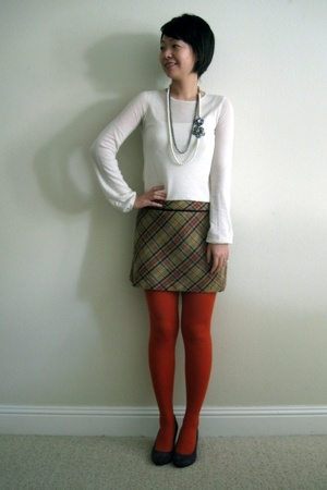 Nine West shoes - karoo top - Arden B necklace - H&M tights
