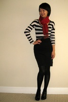 banana republic scarf - American Apparel skirt - Aldo shoes