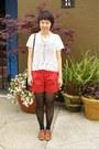 Black-cynthia-rowley-tights-ruby-red-cynthia-steffe-shorts-white-crochet-h-m