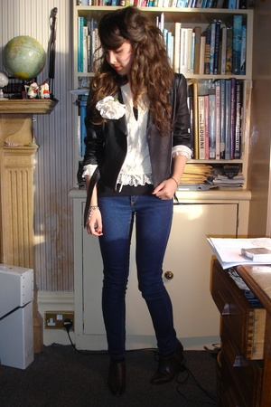 Topshop jacket - vintage shoes - vintage blouse