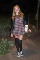 H&M socks - Bik Bok shirt - pieces purse - BYoung jacket
