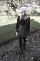 black Hunter shoes - GINA TRICOT shirt - black Zara blazer - black GINA TRICOT s