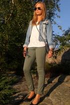 Bik Bok pants - H&M t-shirt - Only jacket - Ray Ban sunglasses