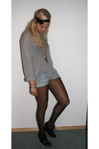 GINA TRICOT sweater - DIY shorts - H&M shoes - H&M accessories