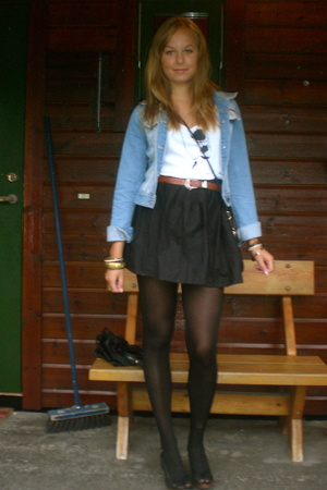top - skirt - shoes - jacket