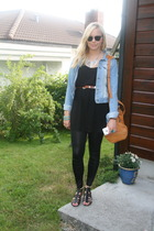 Gina T dress - Bik Bok leggings - Only jacket - H&M necklace - vintage belt - H&