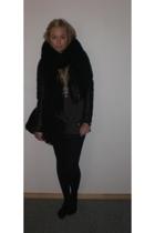 H&M jacket - Bianco purse - GINA TRICOT scarf - H&M men t-shirt - GINA TRICOT ne