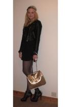 H&M dress - H&M jacket - GoJane shoes - pieces purse - by Helene accessories