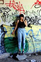 black American Apparel shirt - blue American Apparel pants - black Anne Michelle