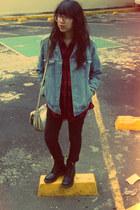 black Dr Martens boots - black Wild & Alive jeans - sky blue Levis jacket