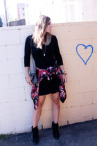 H&M dress - Lucky Brand shoes - Forever 21 cape