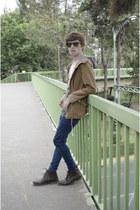 H&M jacket - Paruno boots - asos jeans - Ray Ban sunglasses - H&M t-shirt