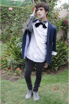 H&M jeans - Pull & Bear boots - H&M blazer - H&M shirt - H&M ring - asos tie