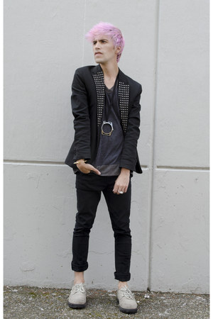 Zara blazer - asos jeans - Kr3w sneakers - maison martin margiela necklace