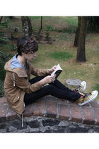 asos jeans - H&M jacket - pull&bear t-shirt - Converse sneakers