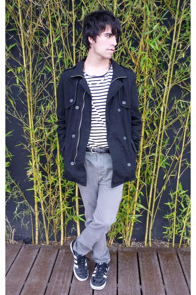 asoscom jacket - pull&bear t-shirt - pull&bear pants - adidas sneakers