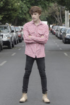 Paruno boots - Dr Denim jeans - Springfield shirt