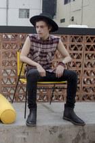 H&M hat - pull&bear boots - Dr Denim jeans - H&M shirt