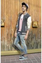 H&M jeans - Springfield hat - asos jacket - Zara t-shirt - Vans sneakers