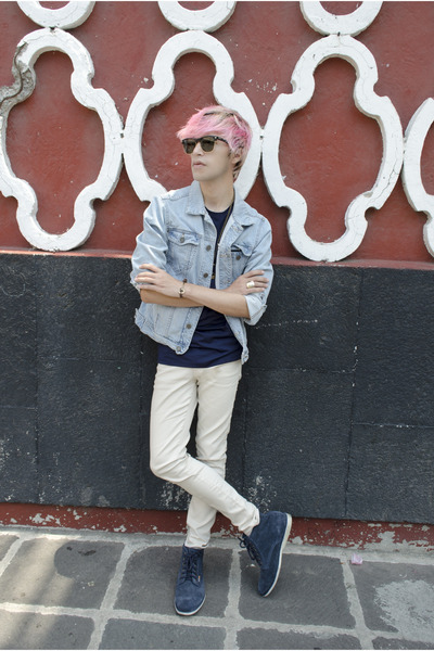 Frank Wright boots - H&M jeans - pull&bear jacket - ray-ban sunglasses