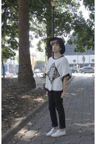 asos jeans - Wonderplace Korea hat - Zara sneakers - Rose Wholesale t-shirt