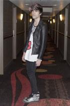 asos jeans - H&M jacket - asos t-shirt - Adidas sneakers