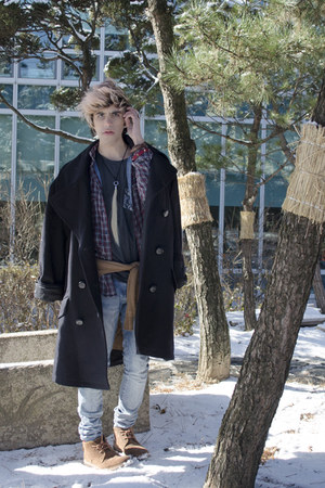 H&M t-shirt - maison martin margiela coat - H&M jeans - H&M jeans