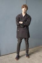 emporio armani shoes - pull&bear jeans - maison martin margiela blazer