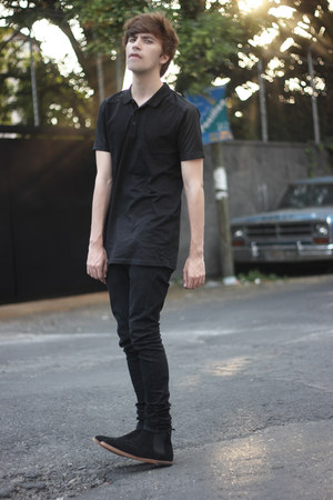 Frank Wright boots - H&M jeans - asos t-shirt