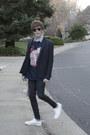 Dr-denim-jeans-asos-blazer-h-m-shirt-ray-ban-sunglasses