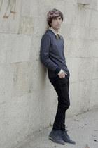 TopTen10 sweatshirt - Frank Wright boots - Dr Denim jeans - pull&bear shirt