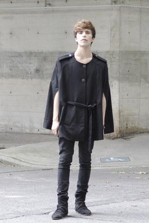 asos boots - asos jeans - H&M cape