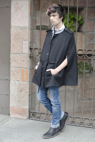 f48864650a2de Men's H&M Capes, Pull&Bear Boots, Zara Jeans, Asos Shirts |