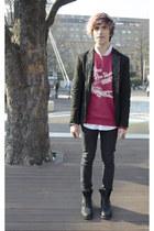 Zara blazer - asos boots - H&M jeans - Spicy Color shirt