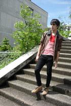 Zara top - pull&bear shoes - asos jeans - Zara Kids jacket - asos necklace