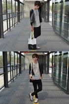 Zara jacket - asos jeans - Fer Stalder bag - rayban sunglasses - Zara t-shirt