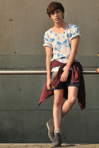 Scotch & Soda t-shirt - Frank Wright boots - Forever 21 shirt