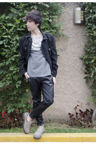 H&M t-shirt - pull&bear jeans - asos jacket - Kr3w sneakers - H&M necklace