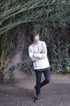 H&M sweater - Pull & Bear boots - asos jeans - H&M t-shirt