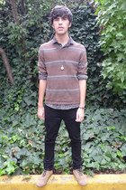 pull&bear shoes - asos jeans - pull&bear sweater - asos shirt - asos watch
