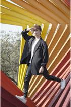 maison martin margiela blazer - Zara t-shirt - pull&bear pants