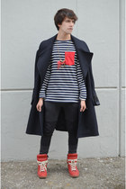 H&M jeans - Maison Martin Margiela for H&M coat - Zara t-shirt