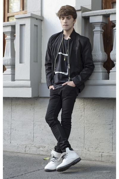 Tiny Deal boots - H&M jeans - Tiny Deal jacket - Two Square t-shirt