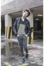 H&M jeans - asos shoes - Forever 21 jacket - H&M t-shirt - pull&bear necklace