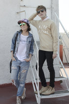 Paruno boots - Dr Denim jeans - Spicy Color Korea shirt - Ray Ban sunglasses